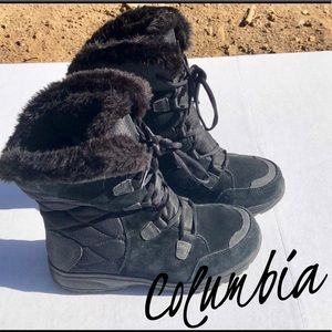 Columbia ice maiden black faux fur boot waterproof
